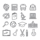 School And Education Line Icons - GraphicRiver Item for Sale