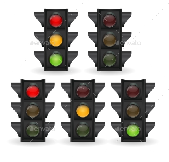 Traffic Light Vector Illustration - Miscellaneous Vectors
