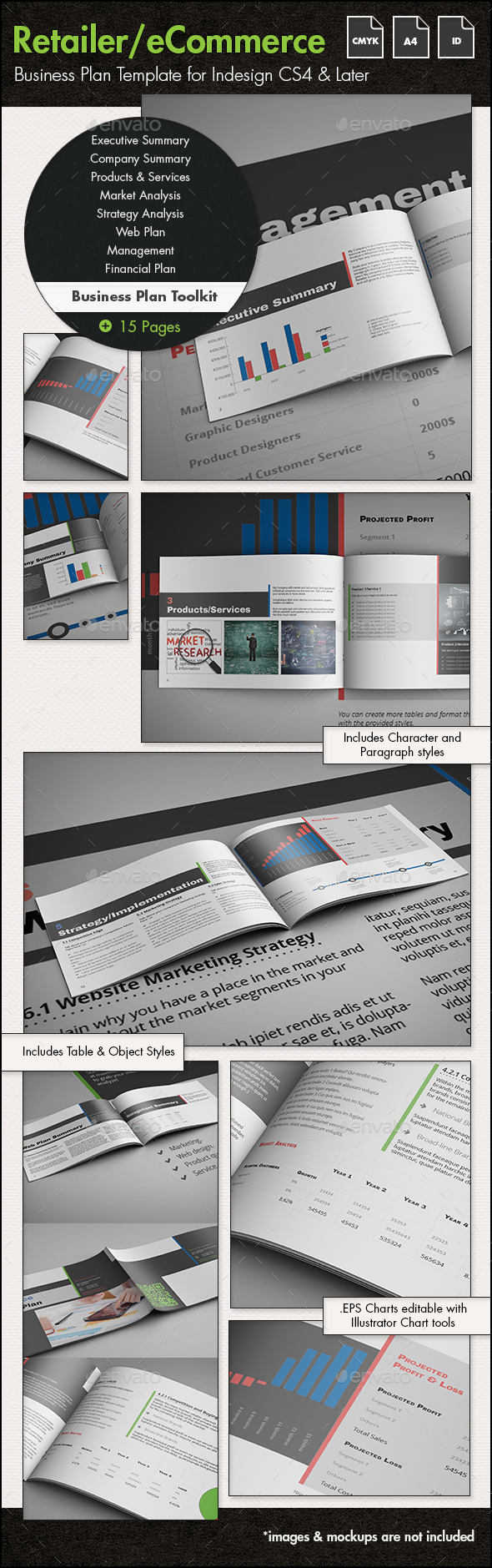 eCommerce/Retailer Business Plan Toolkit - A4 - Informational Brochures