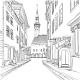 Vector Medieval Old Town, Tallinn, Estonia - GraphicRiver Item for Sale