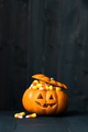 Jack o lantern filled with candy corn - PhotoDune Item for Sale