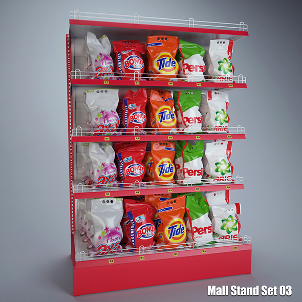 Mall Stand Set 03 - 3DOcean Item for Sale