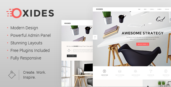 Oxides - A Creative Studio Theme for Entrepreneurs