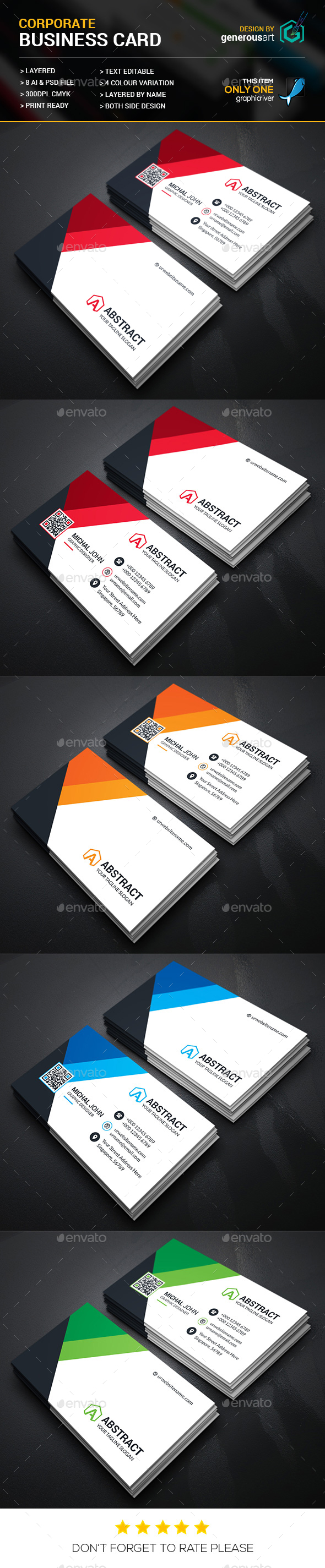 New Corporate Business Card - Corporate Business Cards