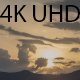 Sunset Over Hill and Fluffy Clouds - VideoHive Item for Sale