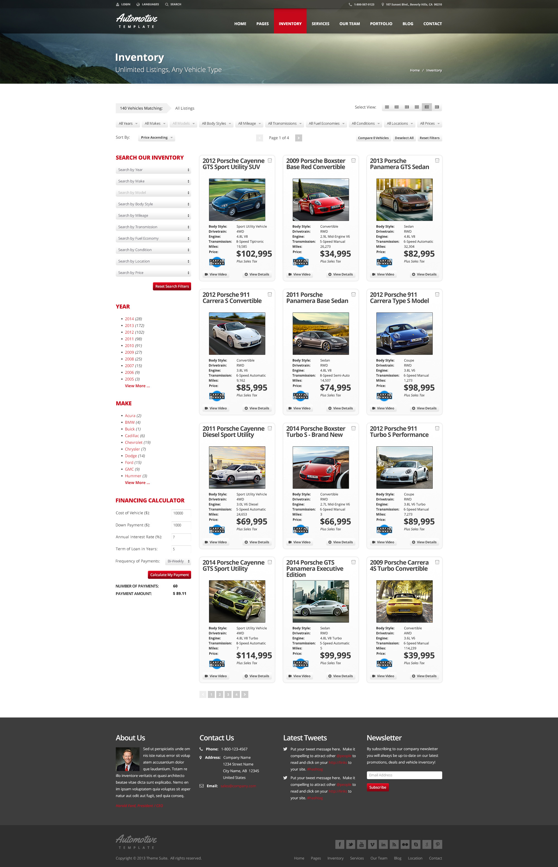 Automotive Car Dealership Business Wordpress Theme By Themesuite