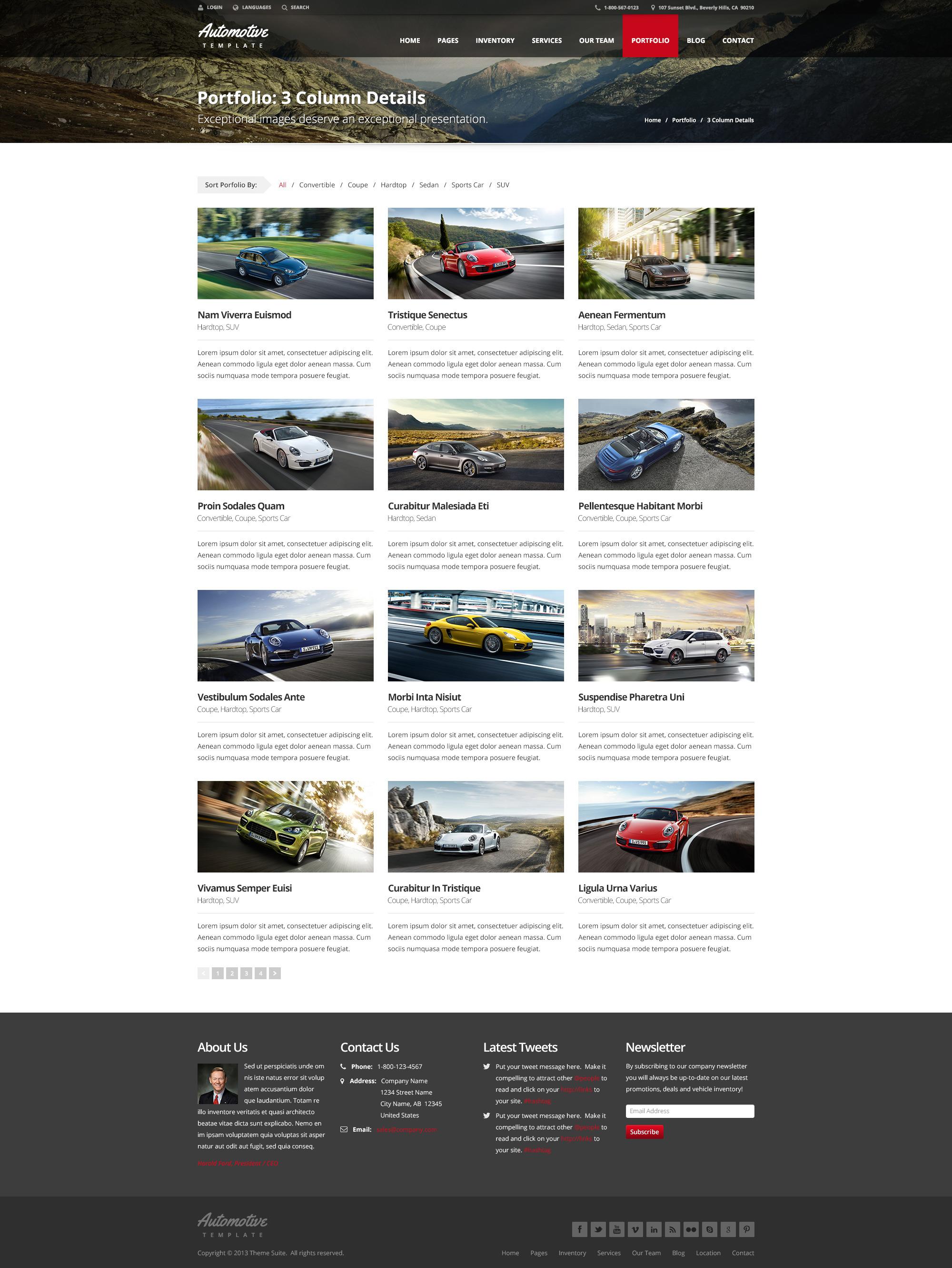 automotive car dealership business theme by themesuite