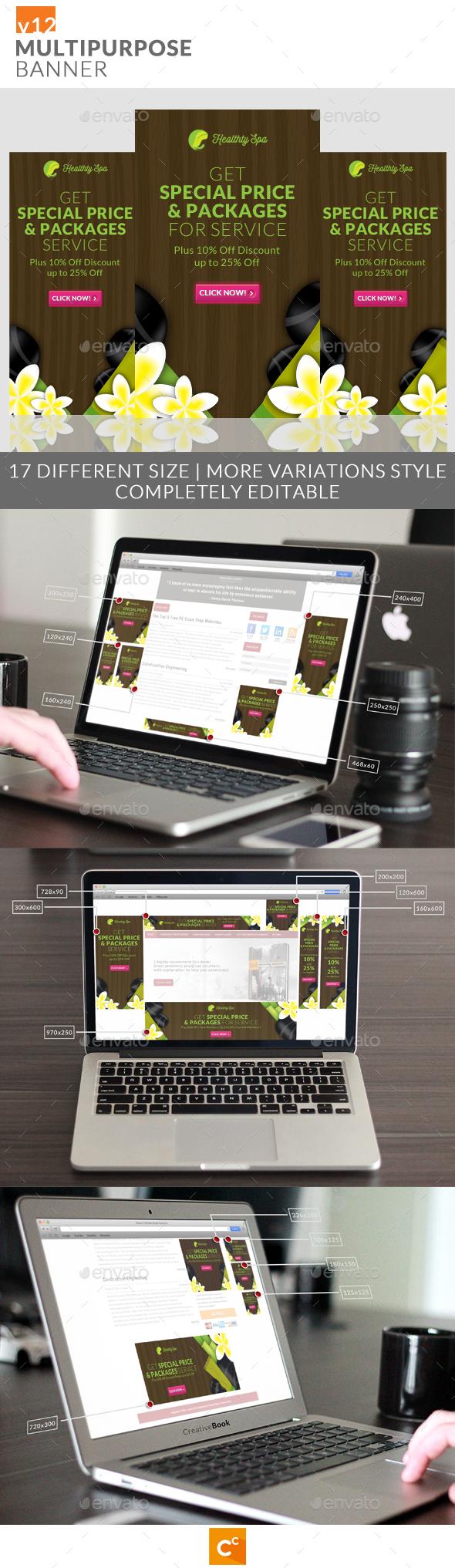 Multipurpose Banner Ads v12 - Banners & Ads Web Elements