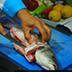 Chef Cutting Fish In Restaurant - VideoHive Item for Sale