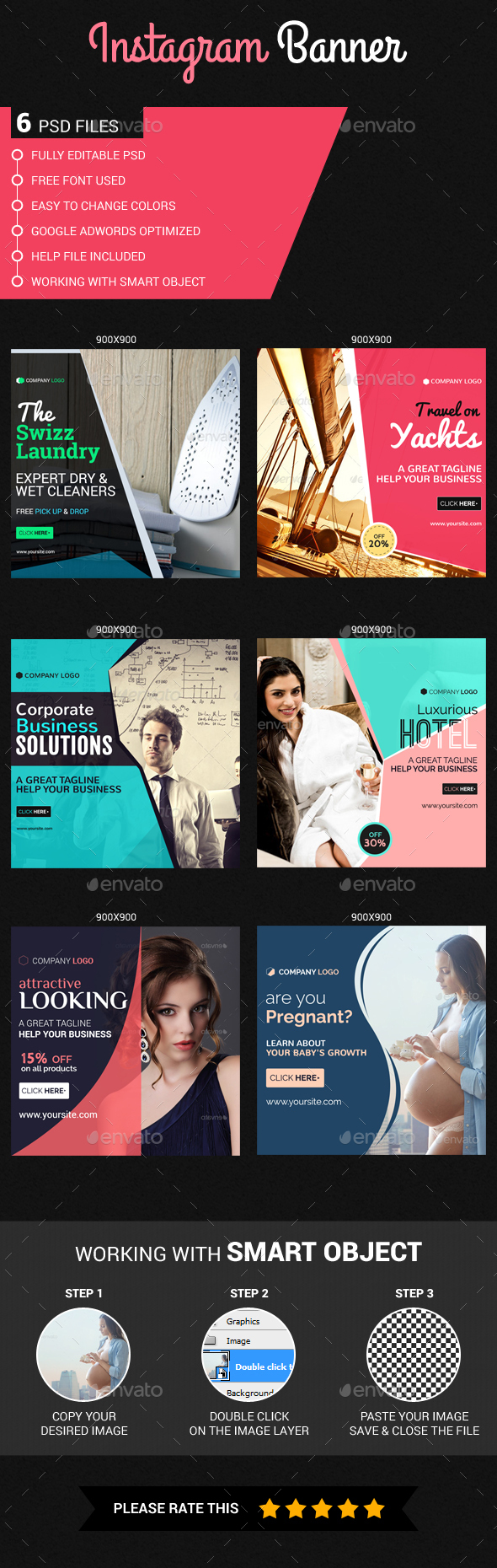 Multipurpose Instagram Templates - Banners & Ads Web Elements