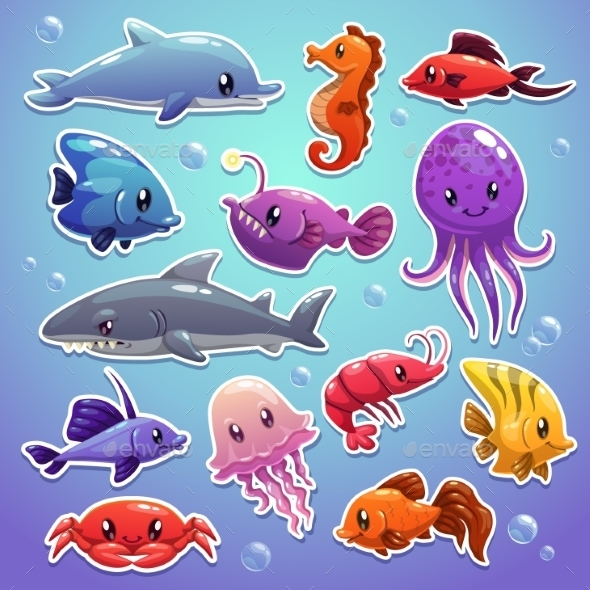 Sea Animals Set - Animals Characters