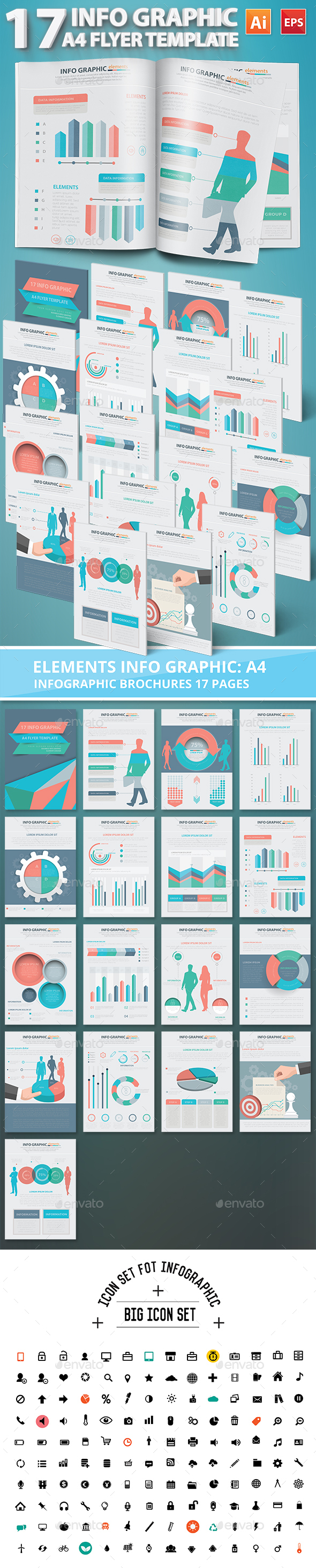 Infographic Elements Design 17 Pages - Infographics