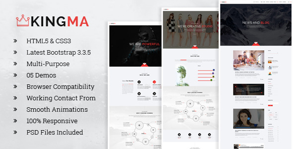 KingMa | Creative Business Onepage HTML Template
