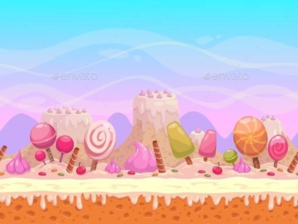 Candyland Illustration - Landscapes Nature