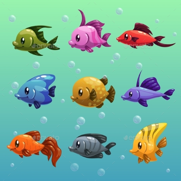 Fishes - Animals Characters
