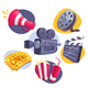 6 Movie Icons - GraphicRiver Item for Sale