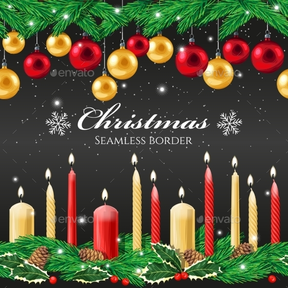 Christmas Seamless Border - Christmas Seasons/Holidays
