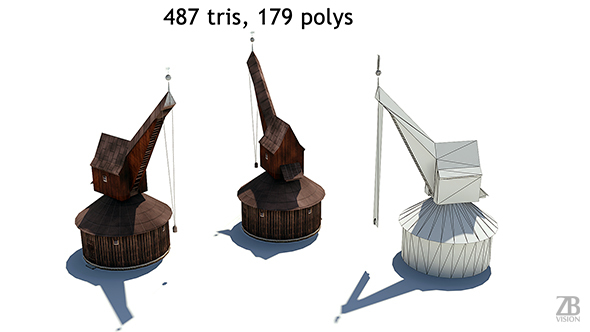 Lowpoly Medieval Crane - 3DOcean Item for Sale