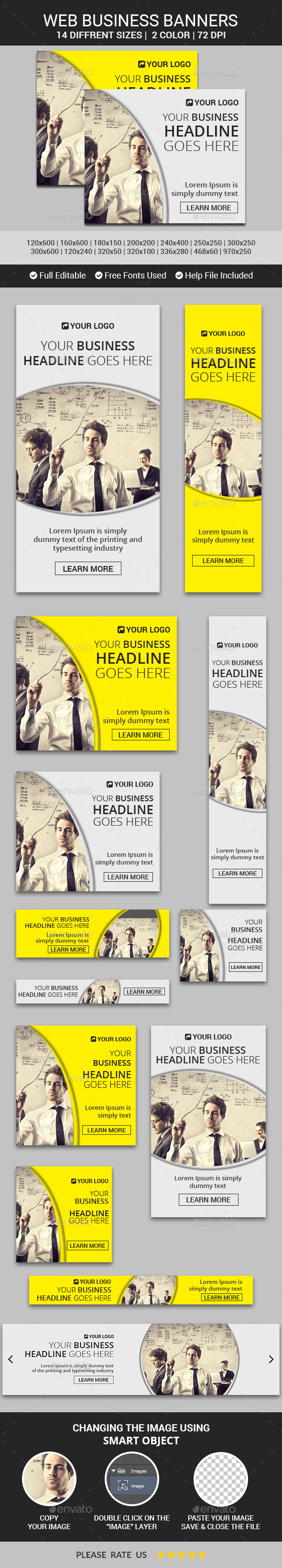 Web Business Banners - Banners & Ads Web Elements