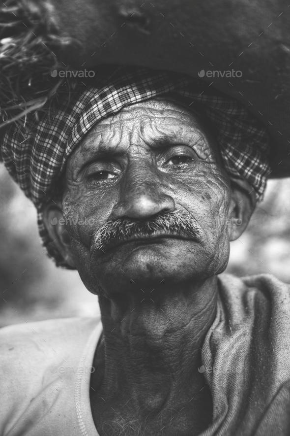 Indigenous Senior Indian Man Grumpy Camera Concept - Stock Photo - Images