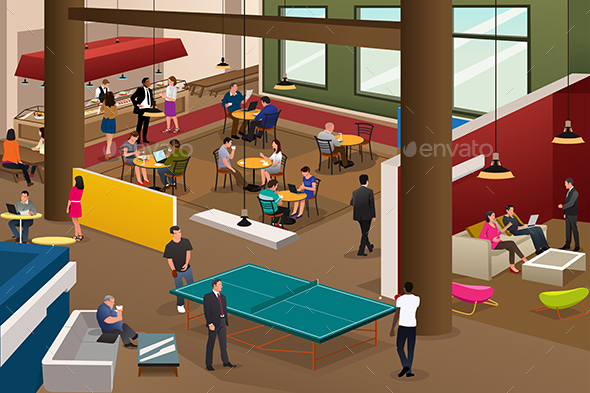 Modern Office Scene - Business Conceptual