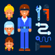 Female Plumber - GraphicRiver Item for Sale