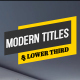 Modern Titles & Lower Third - VideoHive Item for Sale