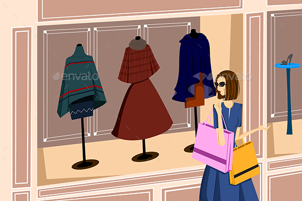 Girl with Shopping Bags - Commercial / Shopping Conceptual
