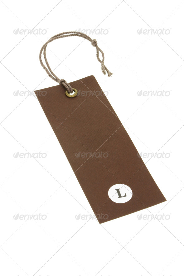 Size L tag - Stock Photo - Images