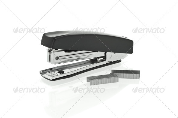 Stapler and staples - Stock Photo - Images