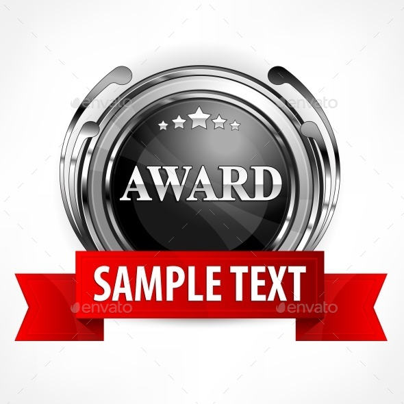 Metallic Award with Ribbon  - Food Objects