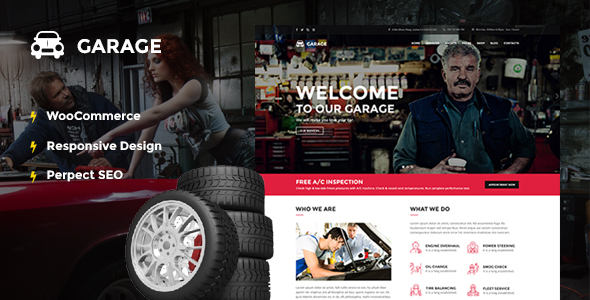 Car Dealer Automotive WordPress Theme - Garage