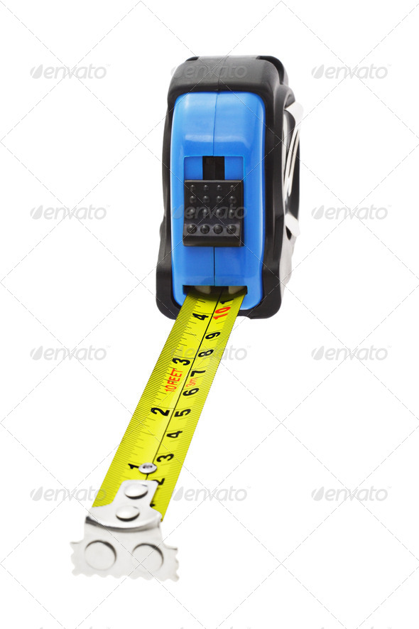 Close up of measuring tape - Stock Photo - Images