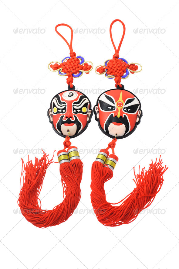 Chinese opera mask ornaments - Stock Photo - Images