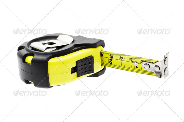 Measuring tape with magnetic head - Stock Photo - Images