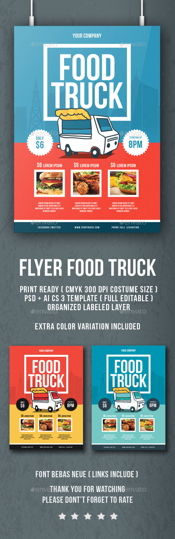 Food Truck Flyer - Flyers Print Templates