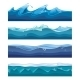 Seamless Ocean, Sea, Water Waves Vector - GraphicRiver Item for Sale