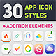 30 App Icon Styles - GraphicRiver Item for Sale