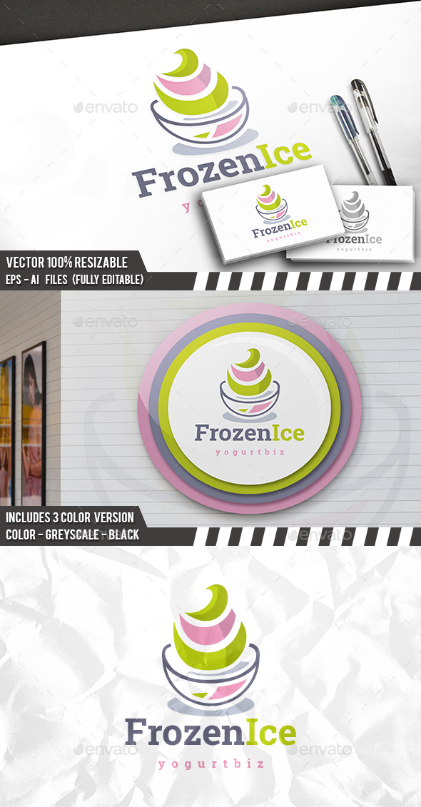 Frozen Yogurt Logo - Food Logo Templates