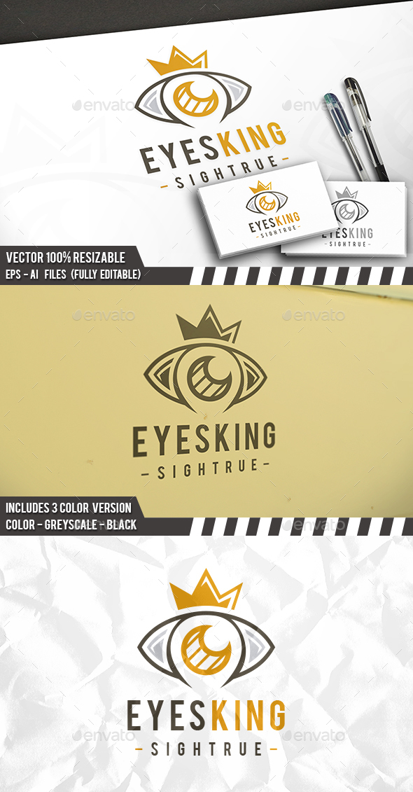 Eye King Logo - Objects Logo Templates