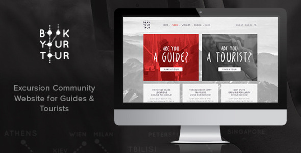Book Your Tour – Excursion Community PSD Template