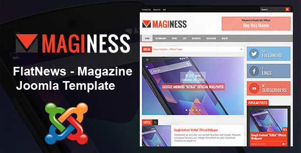 Maginess – Flexible Magazine joomla Theme