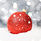 Christmas Ball on Snow with Winter Snow Fall - VideoHive Item for Sale