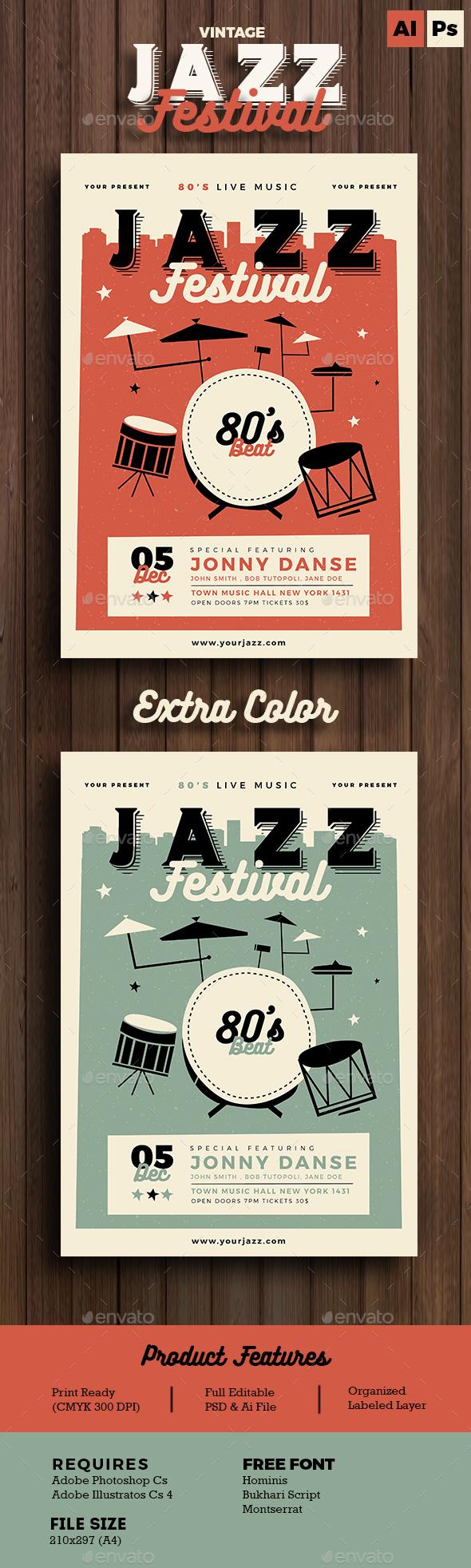 Jazz Festival - Flyers Print Templates