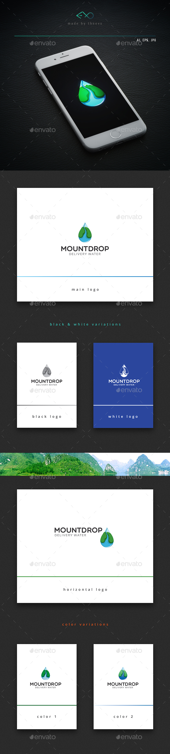 Mountdrop - Nature Logo Templates