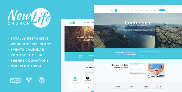 New Life – Church & Religion WordPress Theme