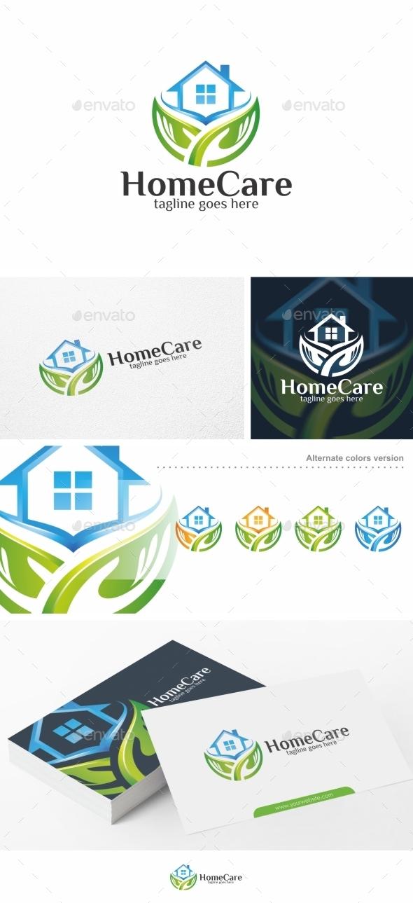 Home Care / House - Logo Template - Buildings Logo Templates
