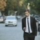 Young Businessman Walking On The Street, Talking - VideoHive Item for Sale