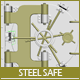 Steel Safe Model - 3DOcean Item for Sale