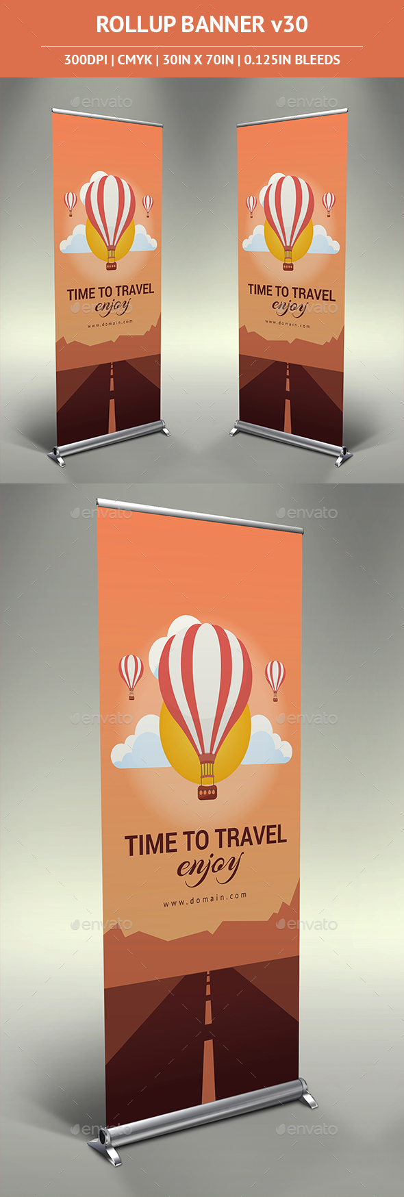 Rollup Banner vol30 - Signage Print Templates